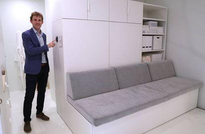 Hasier Larrea lidera la empresa Ori Systems que colabora con Ikea en un proyecto de muebles robóticos que saldrán al mercado en 2020.