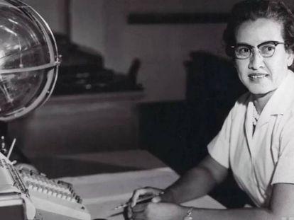 Katherine Johnson, en la NASA en 1966.