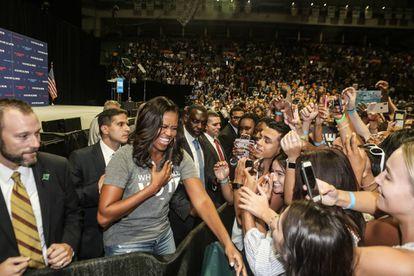 Michelle Obama durante una conferencia en Miami el pasado 28 de septiembre.