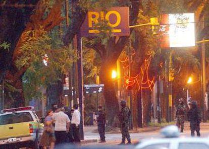 El Banco Río de Acasusso, sede del robo del siglo de Argentina.