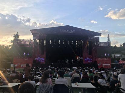 El escenario del Tomavistas Extra en el Parque Tierno Galván