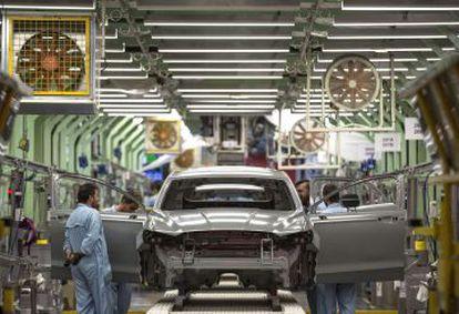 Una fábrica de automóviles en Valencia.