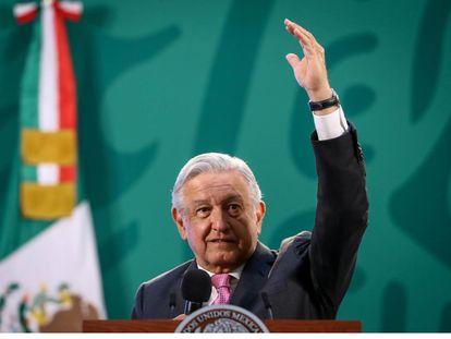 El presidente Andrés Manuel López Obrador, en su conferencia de prensa de este lunes.
