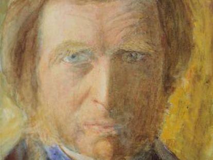 Autorretrato de John Ruskin.