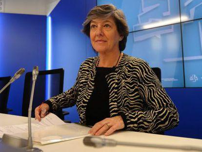 Laura Mintegi este viernes en el Parlamento
