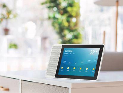 El altavoz inteligente con pantalla Lenovo Smart Display, uno de los cinco modelos analizados en la comparativa.