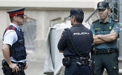 Reunión de coordinación en Barcelona de los cuerpos de seguridad sobre el 1-O.