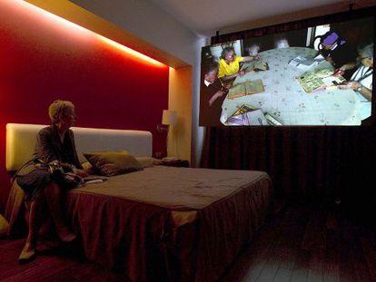 Una de las habitaciones del hotel Catalonia Ramblas.