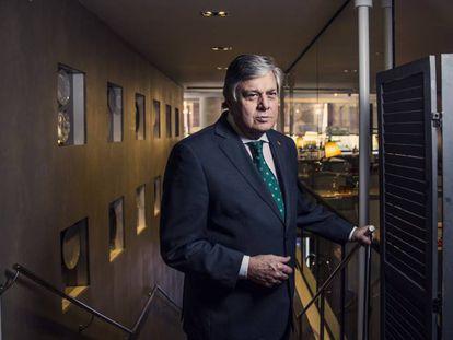 Leopoldo Lopez Gil, padre del opositor venezolano, en un hotel en Madrid.