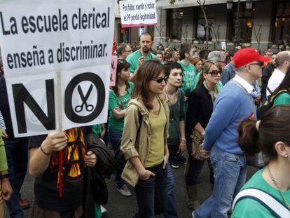 Manifestación por la educación en Madrid el 9 de mayo, día de huelga.