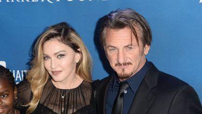El actor Sean Penn en una gala benéfica para ayudar a Haití