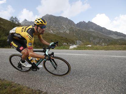 Dumoulin, en una etapa alpina del pasado Tour.