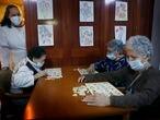 10-4-2021. Polinya. Residencia geriatrico Gravi. En los geriatricos cada vez menos muertes por el covid-19 © Foto: Cristóbal Castro.