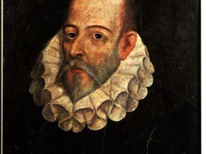 Retrato de Miguel de Cervantes, pintado por Juan de Jáuregui en 1600.