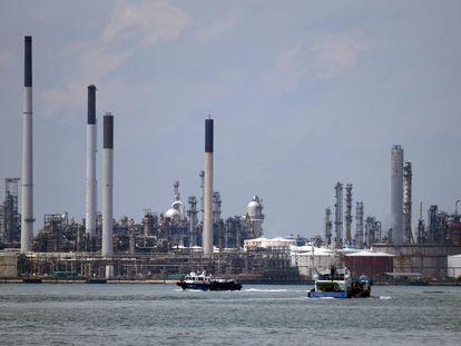 Una refinería de Shell, en Singapur, en noviembre de 2020.