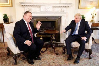 Mike Pompeo y Boris Johnson, el pasado enero en Londres.