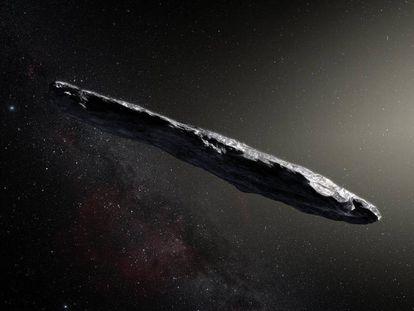 Ilustración del Oumuamua