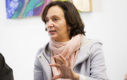 La secretaria de Análisis Político y Social de Podemos, Carolina Bescansa.