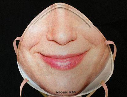 Modelo de mascarilla para reconocimiento facial.