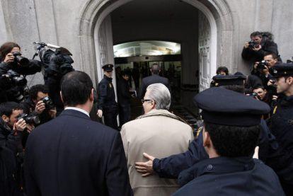 El juez de la Audiencia Nacional Baltasar Garzón llega al Supremo para prestar declaración el pasado 15 de abril.