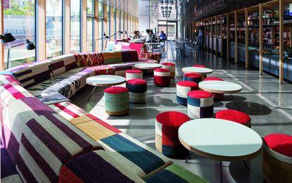 El Disseny Hub del Museo del Diseño de Barcelona fue el laboratorio de donde surgieron los pufs Kilim.