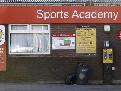 La academia del Crewe, donde Andy Woodward sufrió los abusos.