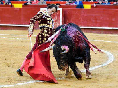 Finito de Córdoba, en una trincherilla a uno de sus toros.