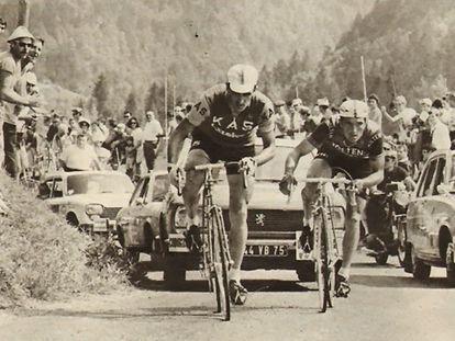Andrés Gandarias, durante la etapa del Tour en la que acabó segundo en 1969.