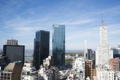 La nueva torre del BBVA en Buenos Aires.