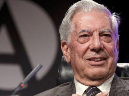 Presentación de la nueva novela de Mario Vargas Llosa 'El héroe discreto' en Casa America.