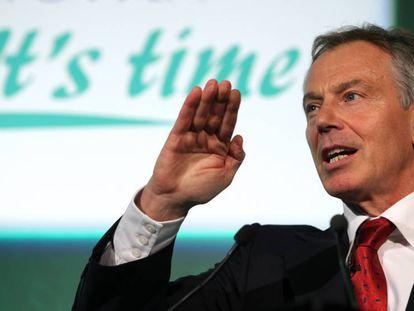 Tony Blair en una intervención en el Foro Sierra Leona de Comercio e Inversión celebrado en Londres en 2009.