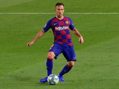 Arthur, en el partido del Barcelona ante el Athletic.