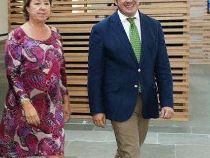 Pilar Barreiro y Pedro Antonio Sánchez, en 2014.