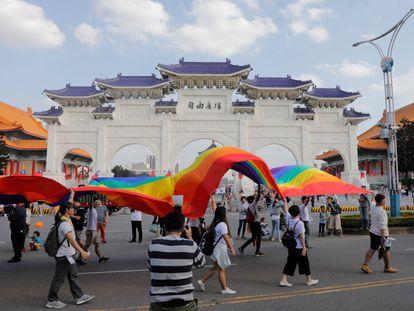 Desfile de Taipei, el último sábado de octubre, que puso fin a cuatro días de Orgullo en Taiwán.