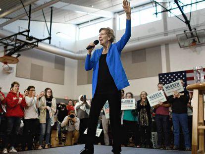 La candidata demócrata Elizabeth Warren.