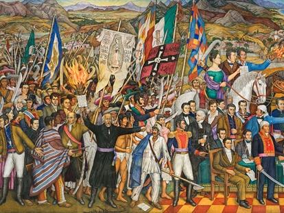 Mural 'Retablo de la independencia' del pintor Juan O'Gorman.