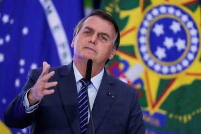 El presidente de Brasil, Jair Bolsonaro, habla durante una ceremonia en el Palacio de Planalto, en Brasilia, este miércoles.