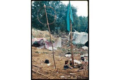Un símbolo de la paz enclavado en el terreno donde se llevo acabo el festival.