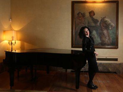 La cantante y actriz Nina en la Embajada de Argentina en Madrid.