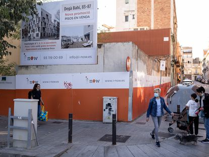 Una promoción de vivienda en la que habrá pisos de precio libre y sociales, en el distrito barcelonés de Sant Martí.