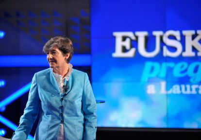 Laura Mintegi, en un momento de 'Euskadi pregunta'.