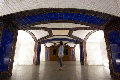 Antiguo vestíbulo de la estación de metro de Pacífico, otra obra del arquitecto Antonio Palacios