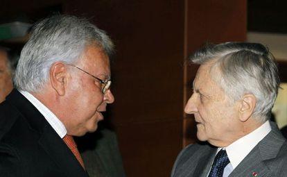 Felipe González y Jean-Claude Trichet, en Madrid.