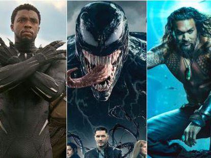 Los justicieros copan siete de los 11 filmes más taquilleros de 2018. 'Black Panther' es una de las favoritas a los Oscar