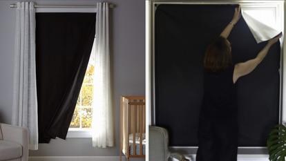 Como se pueden recortar al gusto, estas cortinas portátiles se pueden instalar en ventanas pequeñas y grandes.