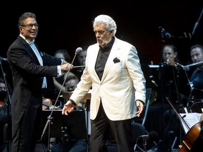 Plácido Domingo, durante su actuación en el festival Starlite de Marbella.