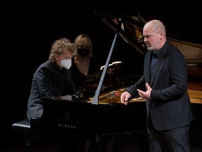 Justus Zeyen y Florian Boesch durante su interpretación de 'Winterreise'.