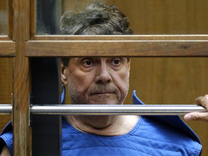 El doctor George Tyndall, durante la vista de lectura de cargos en un juzgado de Los Angeles en julio de 2019.