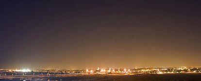 Contaminación lumínica en la ciudad de Sevilla.