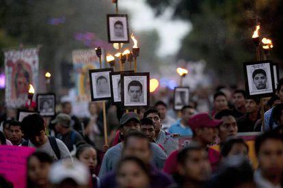 Manifestación en México por Ayotzinapa (imagen de archivo).